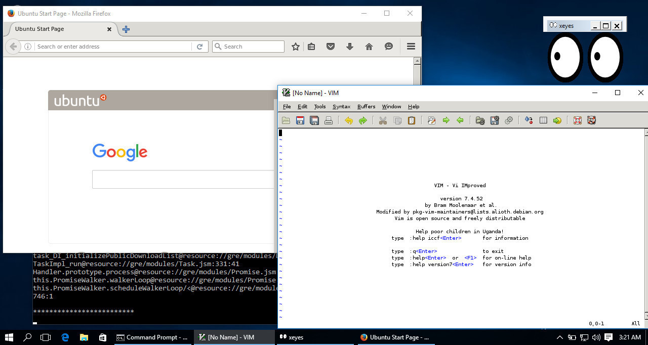 Bash plus windows 10 equals linux gui apps on the windows for 1 plus 1 equals window