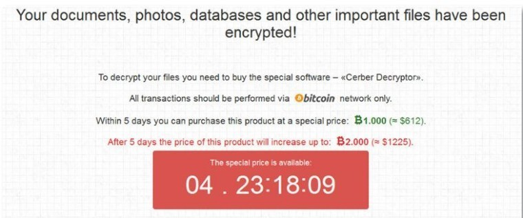 Cerber ransomware can now detect virtual machines to prevent