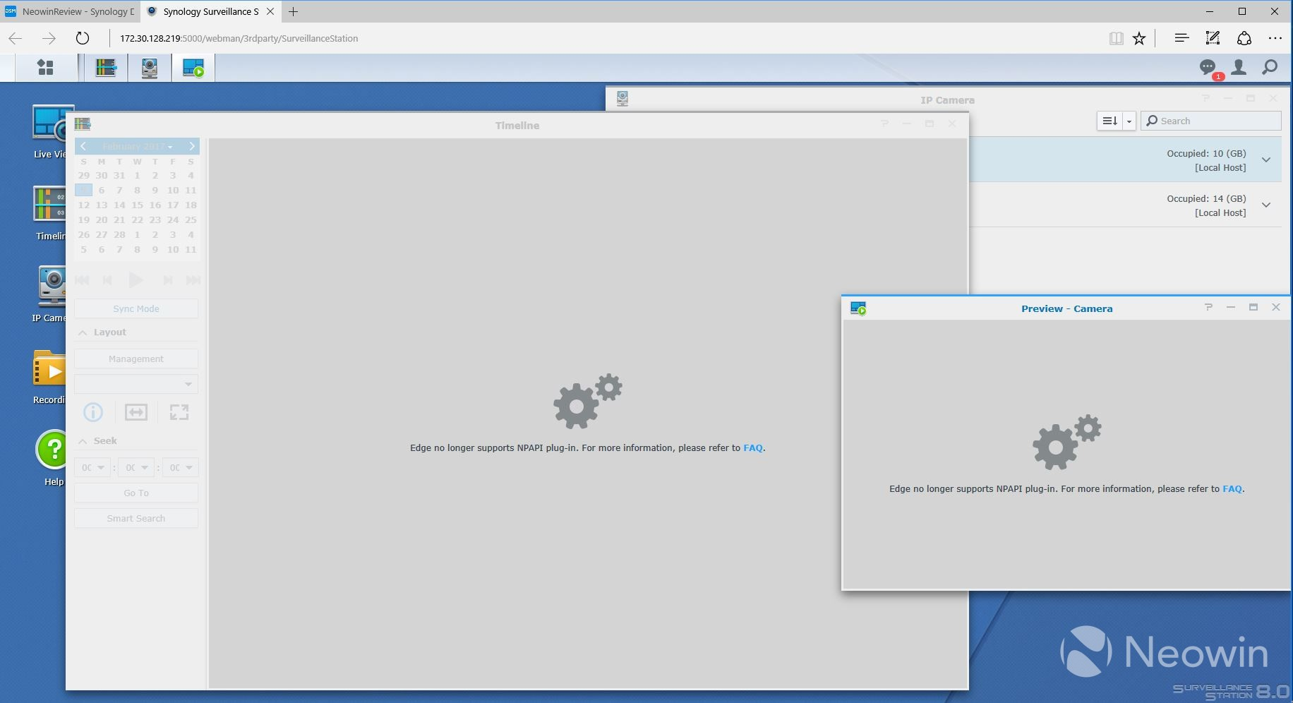 Review of Synology's Surveillance Station, a free IP camera tool for
