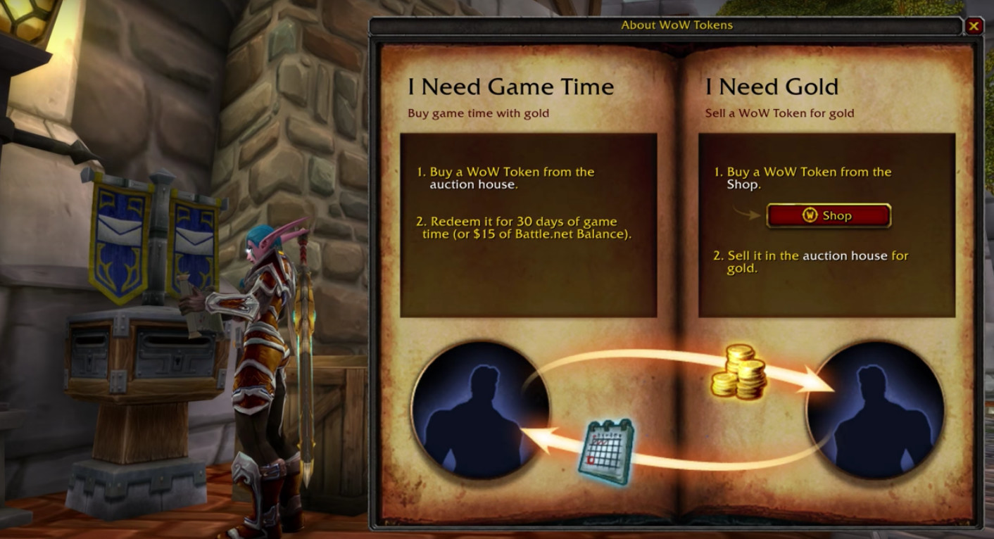 World of Warcraft Token can now be converted into Battle net credit