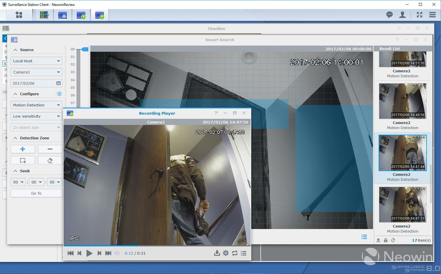 Review of Synology's Surveillance Station, a free IP camera