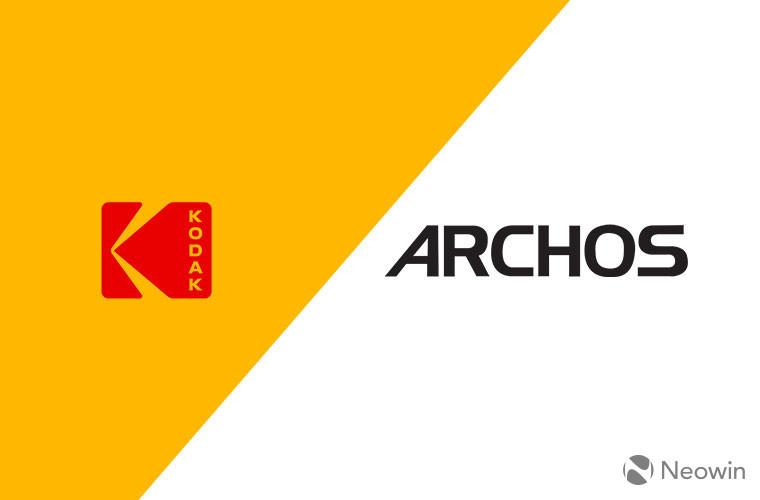 archos, kodak licensing logos