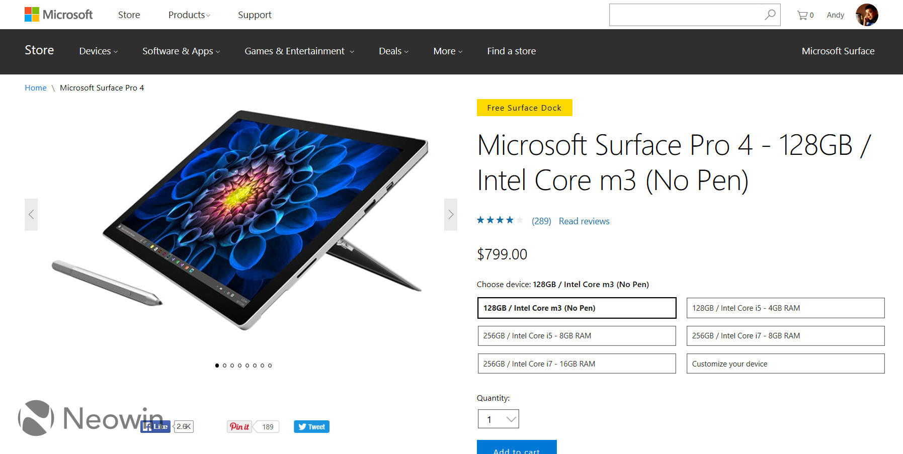 Get surface pro 4 free