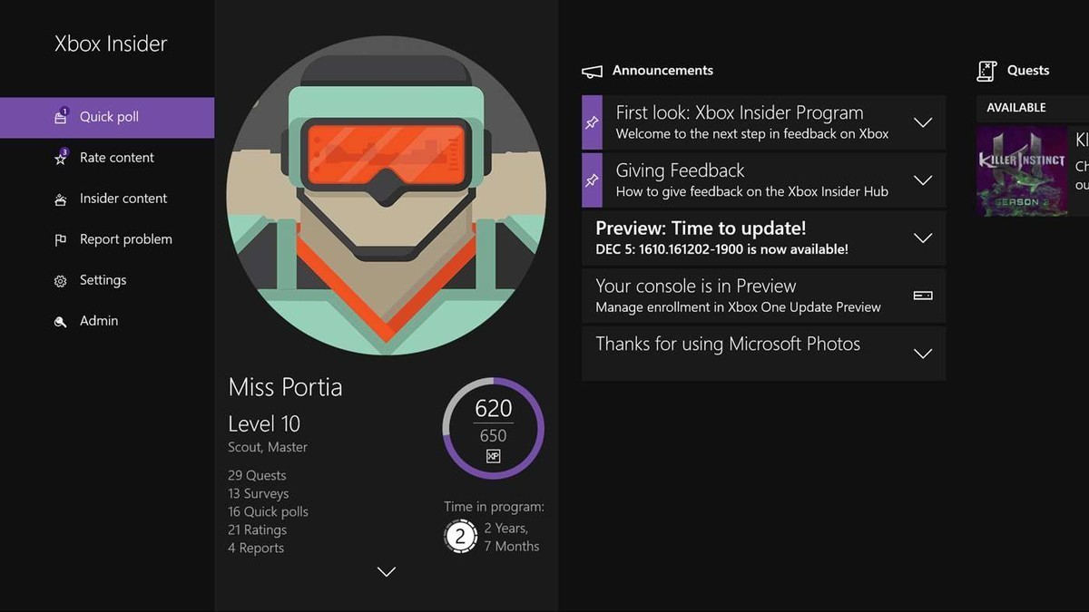 Xbox Insider Hub is coming to Windows 10 PCs