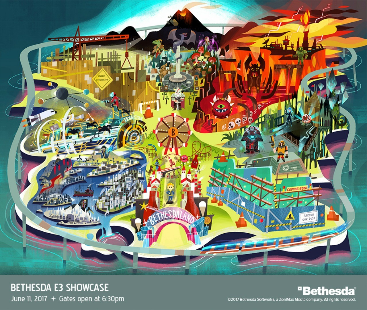 Bethesda E3 Art Teases New Games In Development