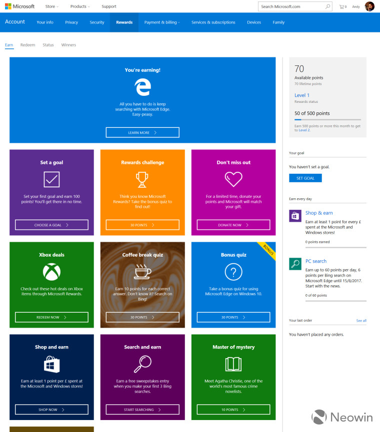 Microsoft Rewards launches in the UK - Neowin