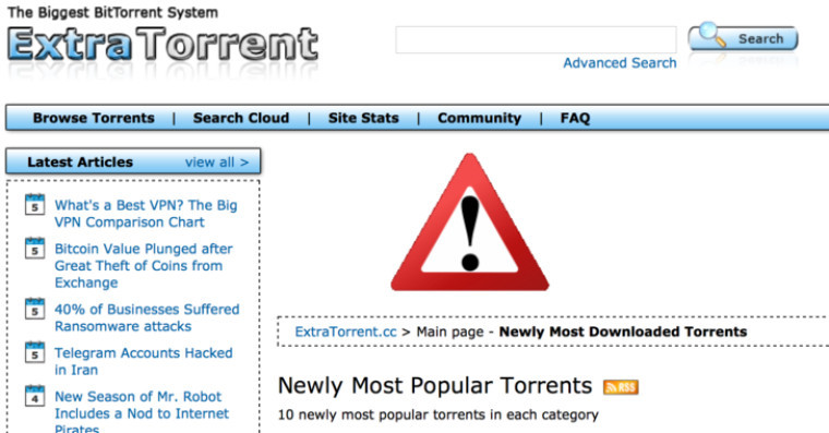 ExtraTorrent Shuts Down For Good