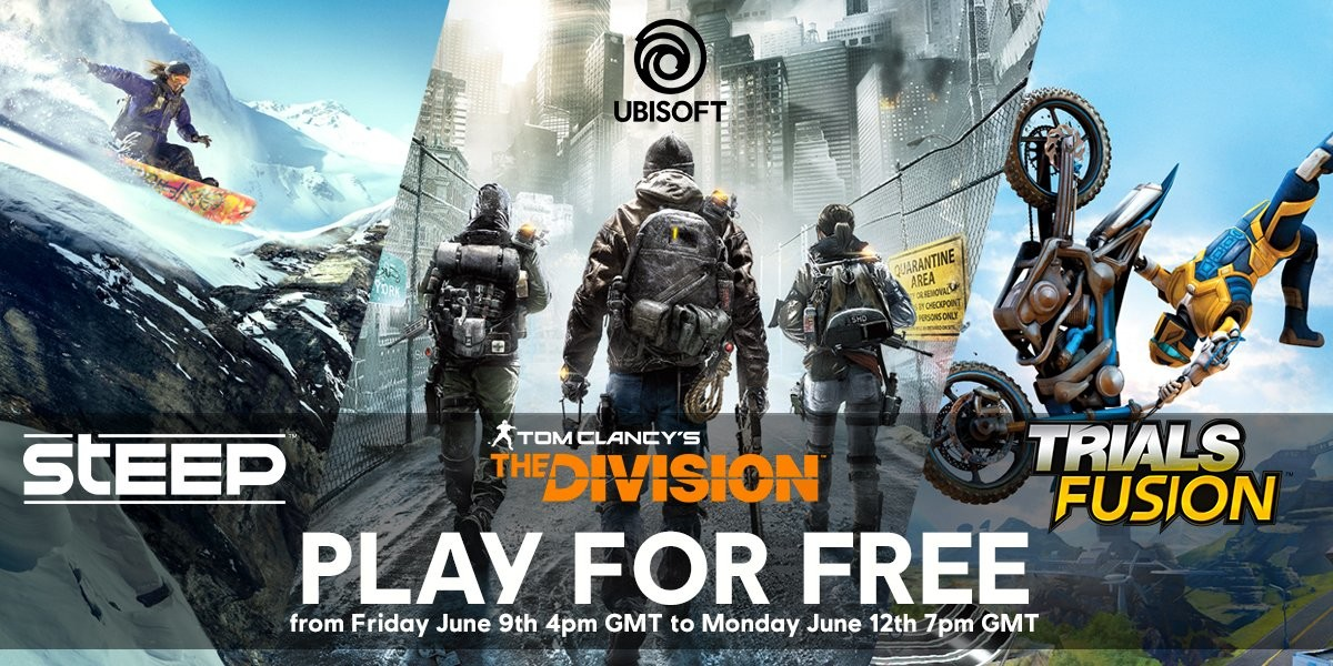 The Division, Steep, and Trials Fusion get free weekend ahead of E3