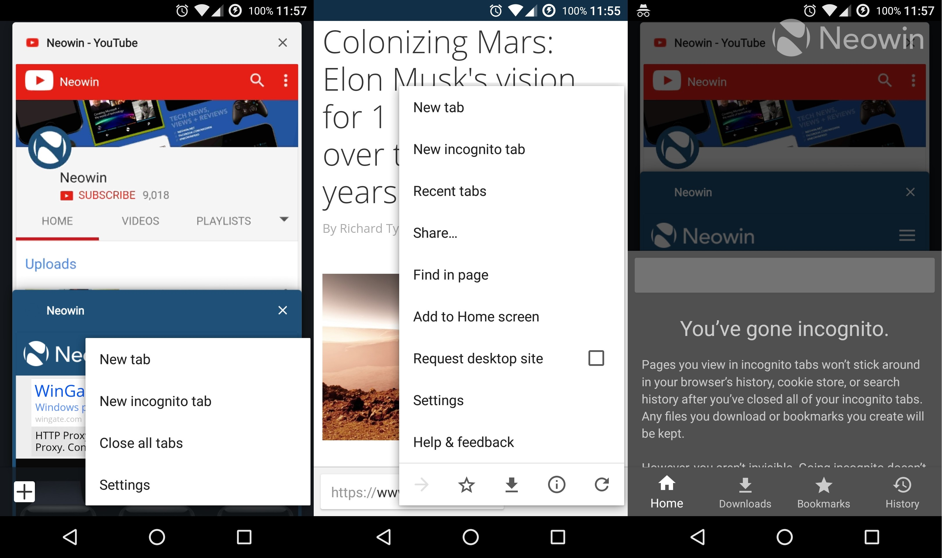 Google Chrome Dev now defaults to a new interface on Android, moves