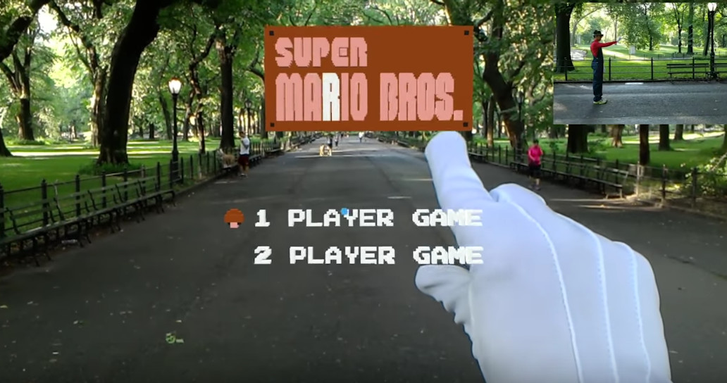 Watch Super Mario take on Level 1 in the AR world