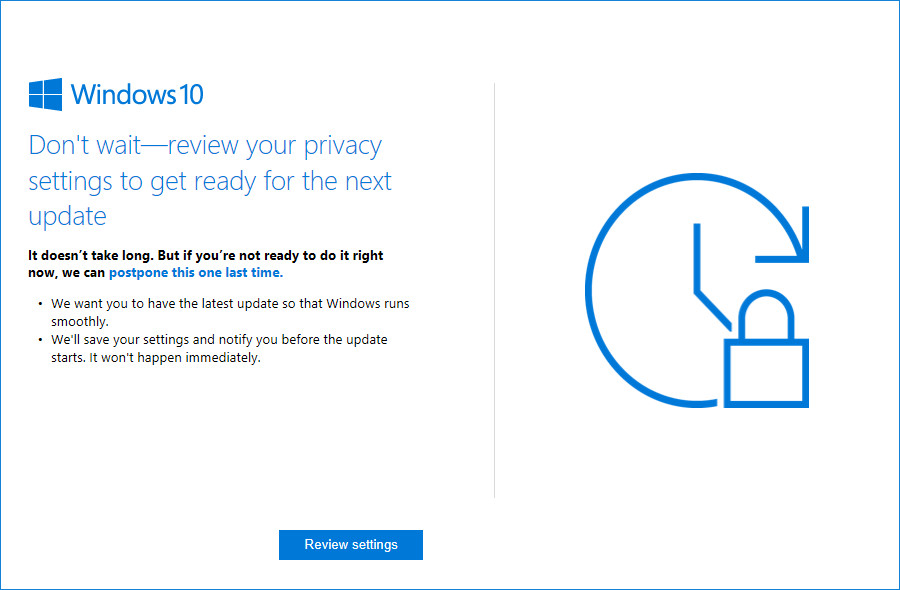 Microsoft now reminds users to install latest Windows 10 version ...