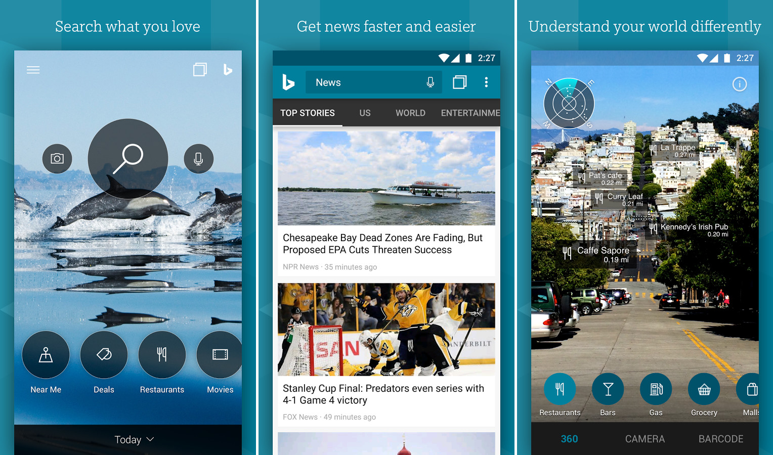 Bing Search app on Android updated with new look and features