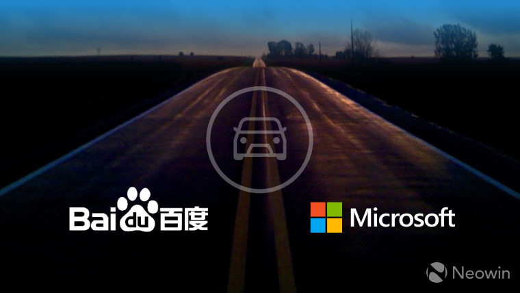 Microsoft and Baidu announce self-driving auto partnership