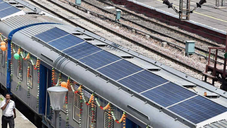 India Debuts Their First Solar-Powered Train