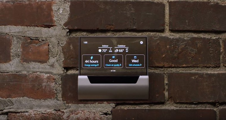 Microsoft and Johnson controls show off GLAS smart thermostat