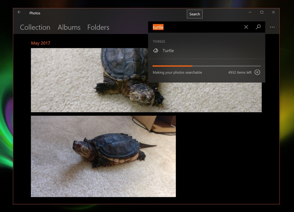 Microsoft testing smart image search for Photos app in Windows 10