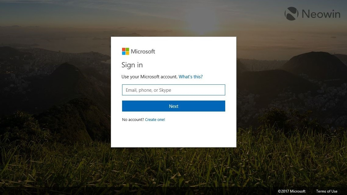 Microsoft's new unified log-in experience is now in public preview