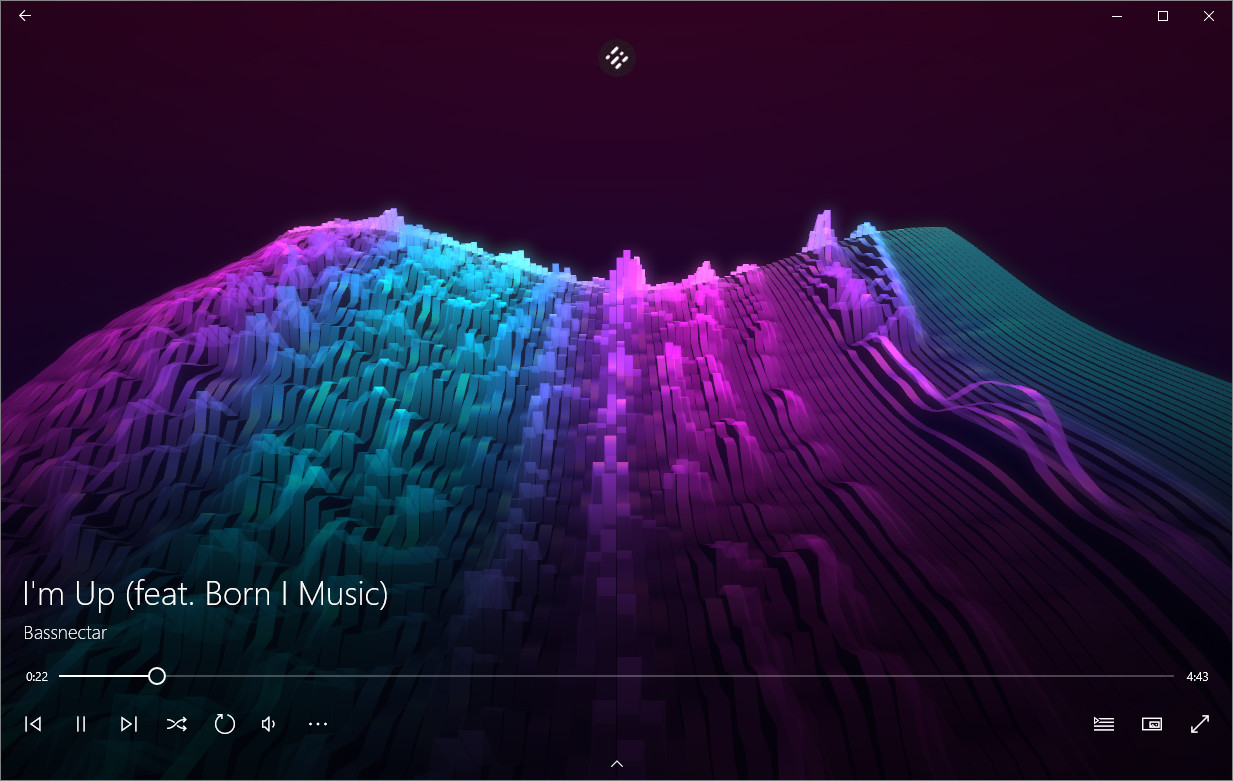 Microsoft's new visualizations, equalizer, and other Groove