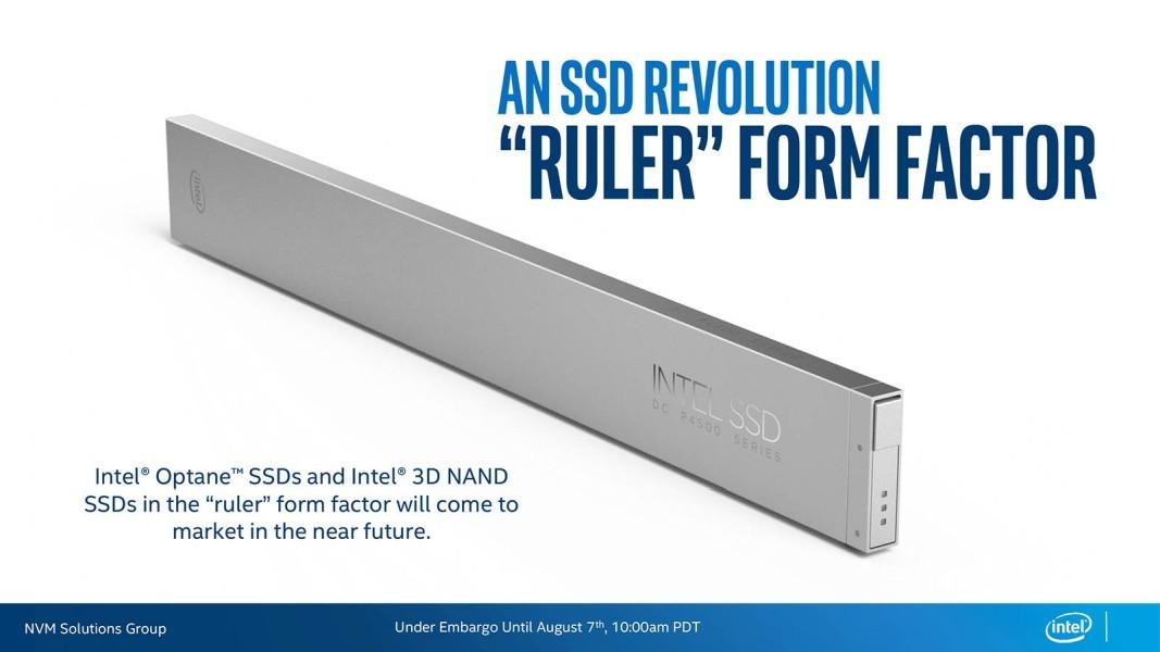 Intel teases new 'ruler' SSD form factor for super high-density ...