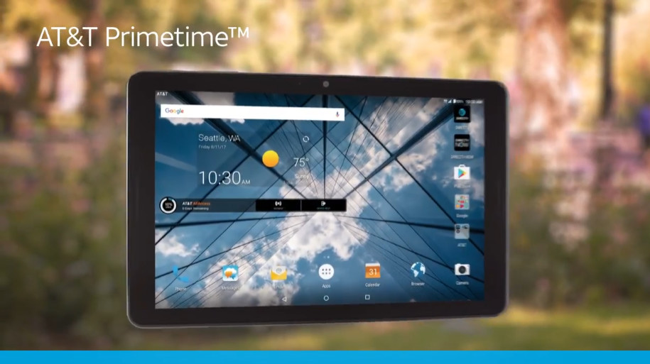 AT&T launching 'Primetime' tablet on August 25 for $10 per month