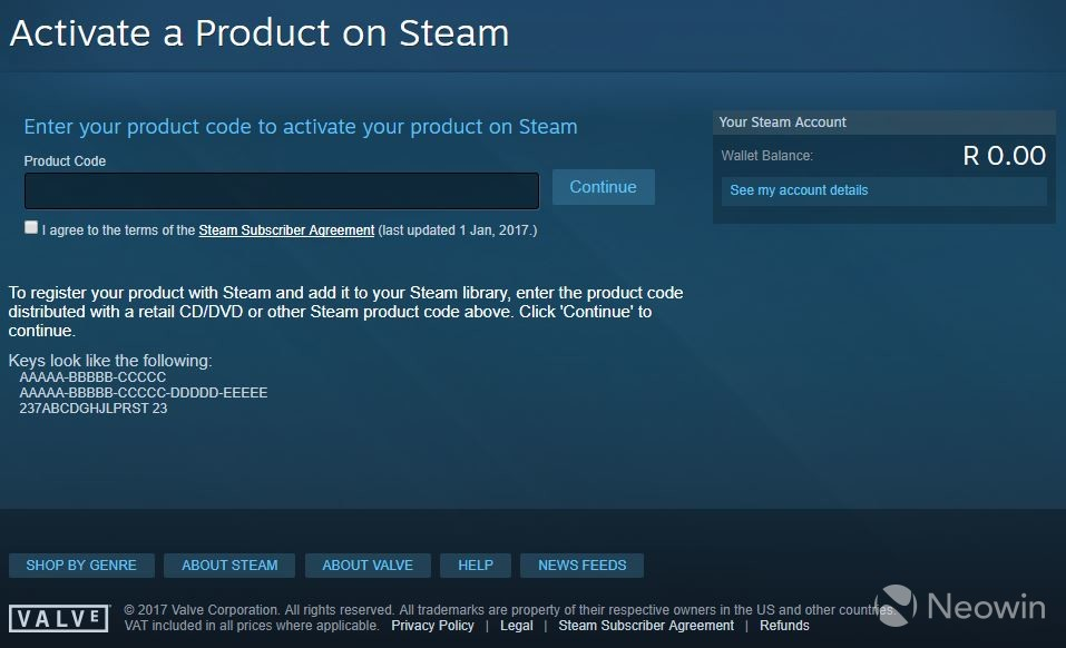 You can now activate keys through the Steam website after a