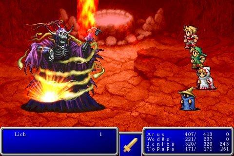 Screenshot of Final Fantasy for iPhone
