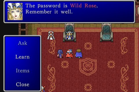 Screenshot of Final Fantasy II for iPhone