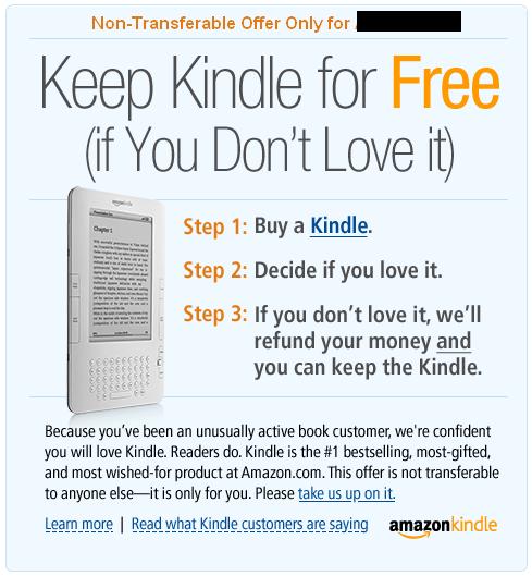 Keep Kindle for Free