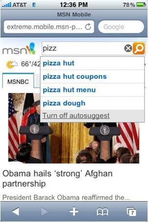 MSN Mobile - iPhone