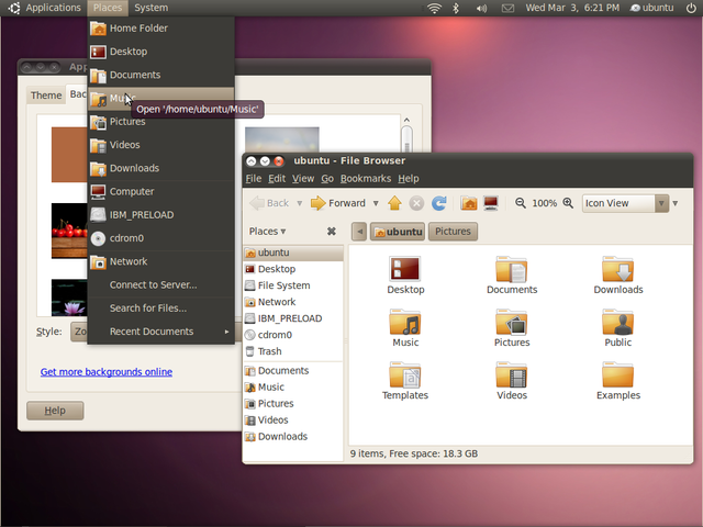 Ubuntu Desktop Dark Theme