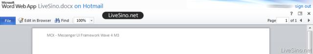 Hotmail - Word App
