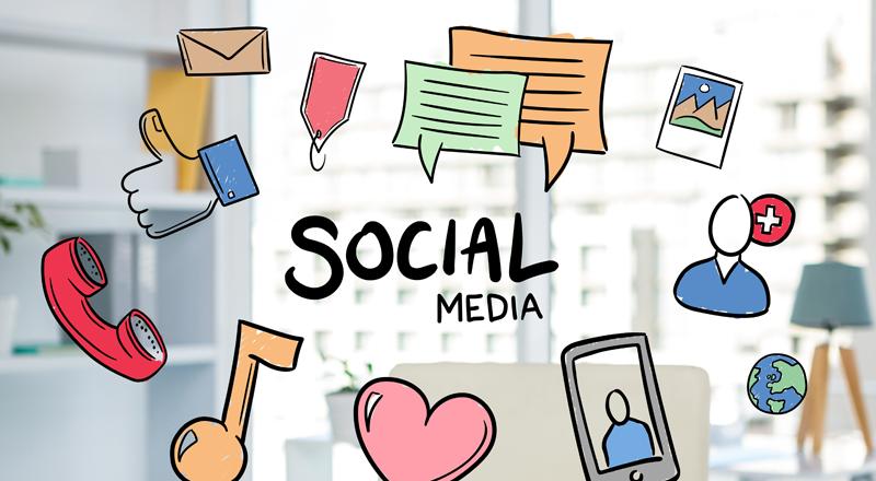 Marque presença nas redes sociais