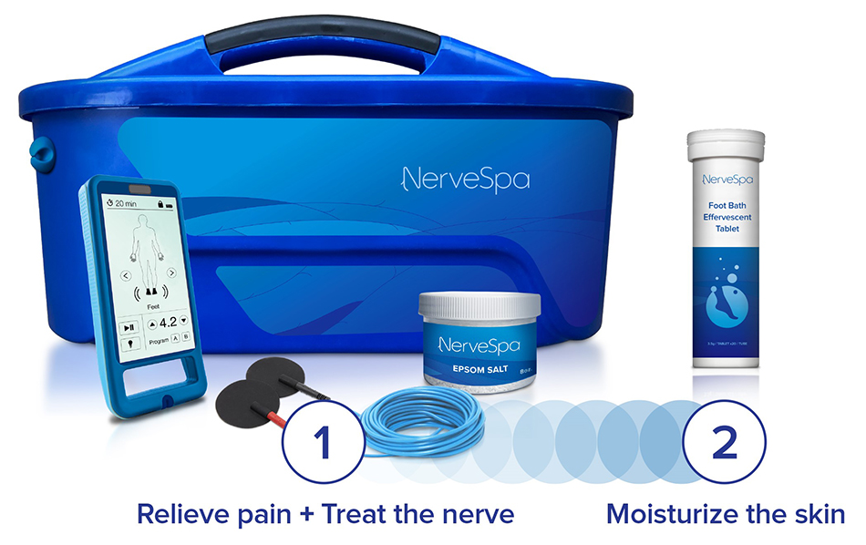 Relieve pain + Treat the nerve. Moisturize the skin - NerveSpa