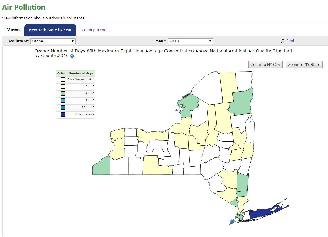State Map Of New York.New York Climate Change Science Clearinghouse