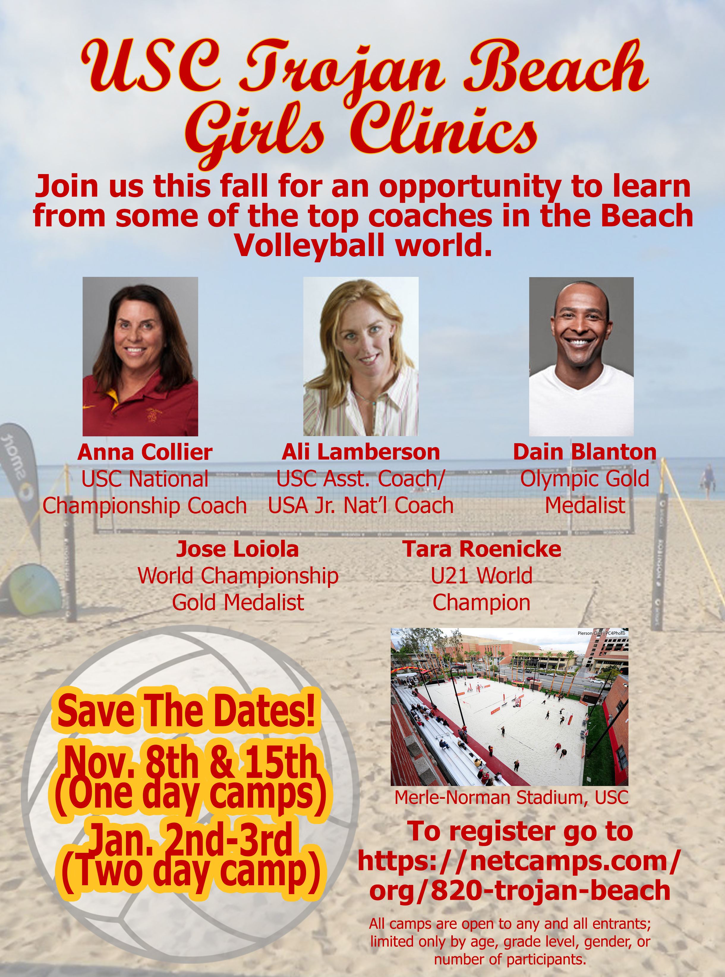 Trojan beach clinic flyer