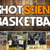 Basketball court curved background with shot science logo camp