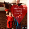 Daughter valentine horse ride