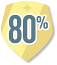 Badge 80%