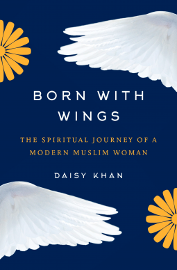 book cover showing daisies and wings