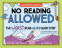 Cover Image: No Reading Allowed