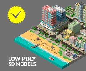 LowPoly 3D Models, Marketpalce