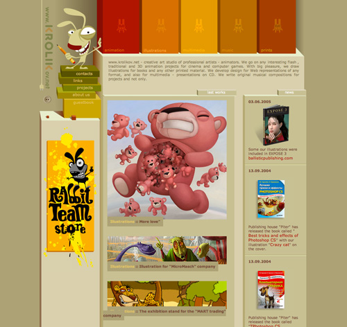 Character Design Site : Inspiration character illustrations in website design