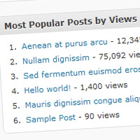 "Preview for How to Write a ""Most Popular By Views"" WordPress Plugin"