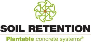 Large soil retention plantable concrete systems drivable grass and verdura