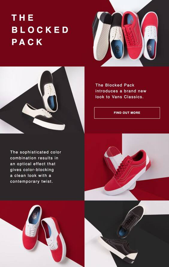Email marketing design from The Block Pack.