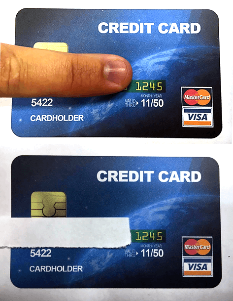 credit card accepted examples