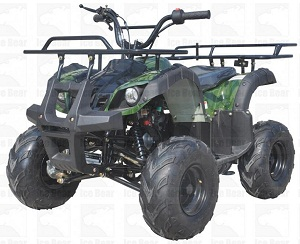 "ICE BEAR ""Big Hunter"" 125cc ATV Automatic with Reverse, Remote Kill, 19"" Big Tires, 8"" Rims, PAH125-8E"