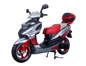 Taotao Galaxy 150Cc Electric With Keys, Kick Start Back Up Gas Scooter Ca Legal