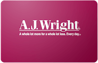 A.J. Wright gift card