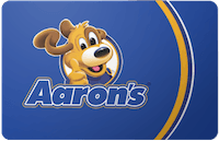 Aarons Furniture Store gift card